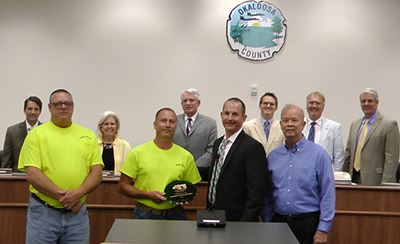 Okaloosa County Recycling Office Wins Award