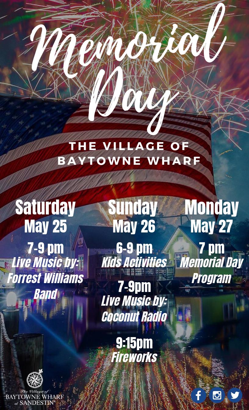 Memorial Day Baytowne Wharf