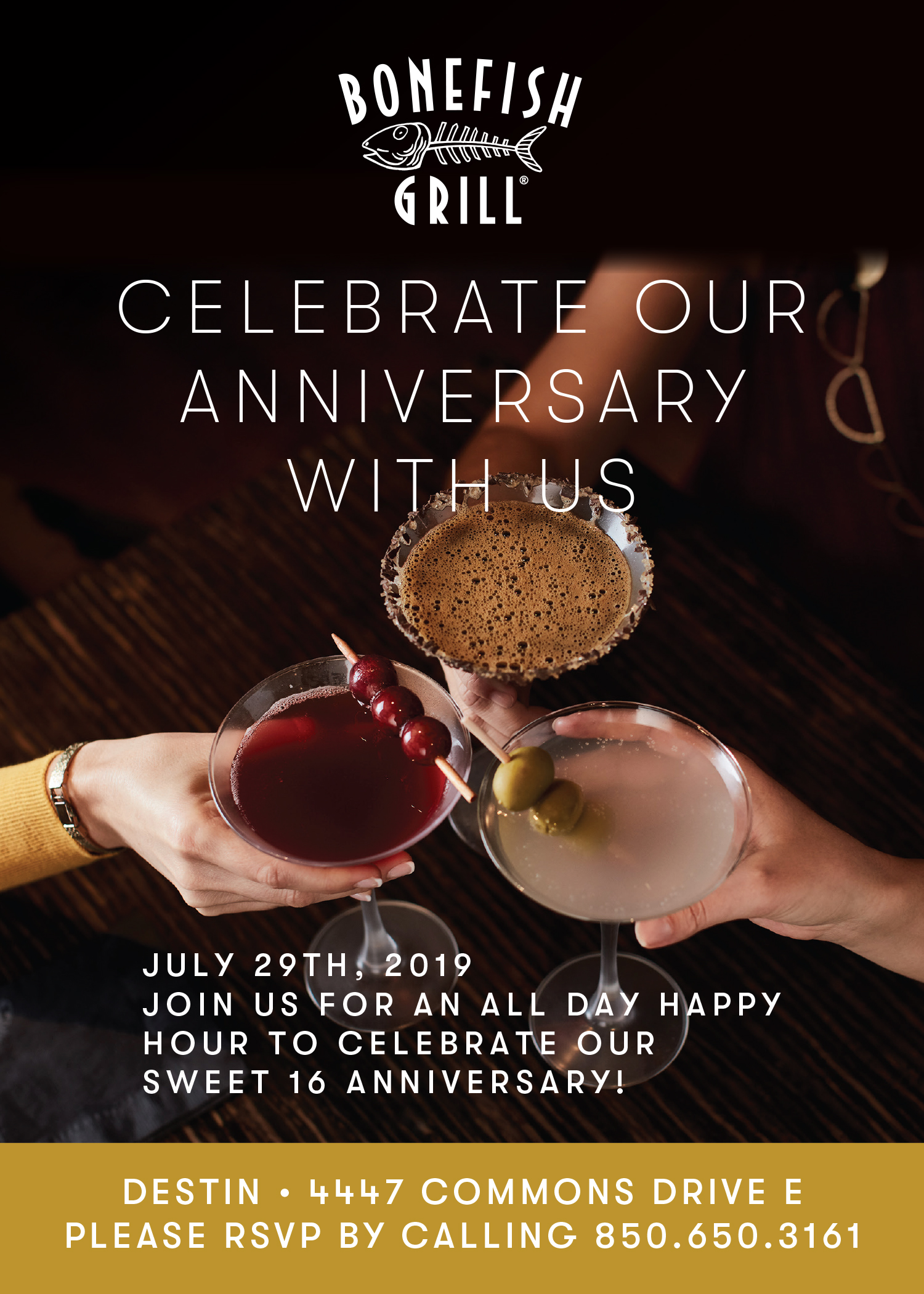 Bonefish Grill All Day Happy Hour Birthday Celebration