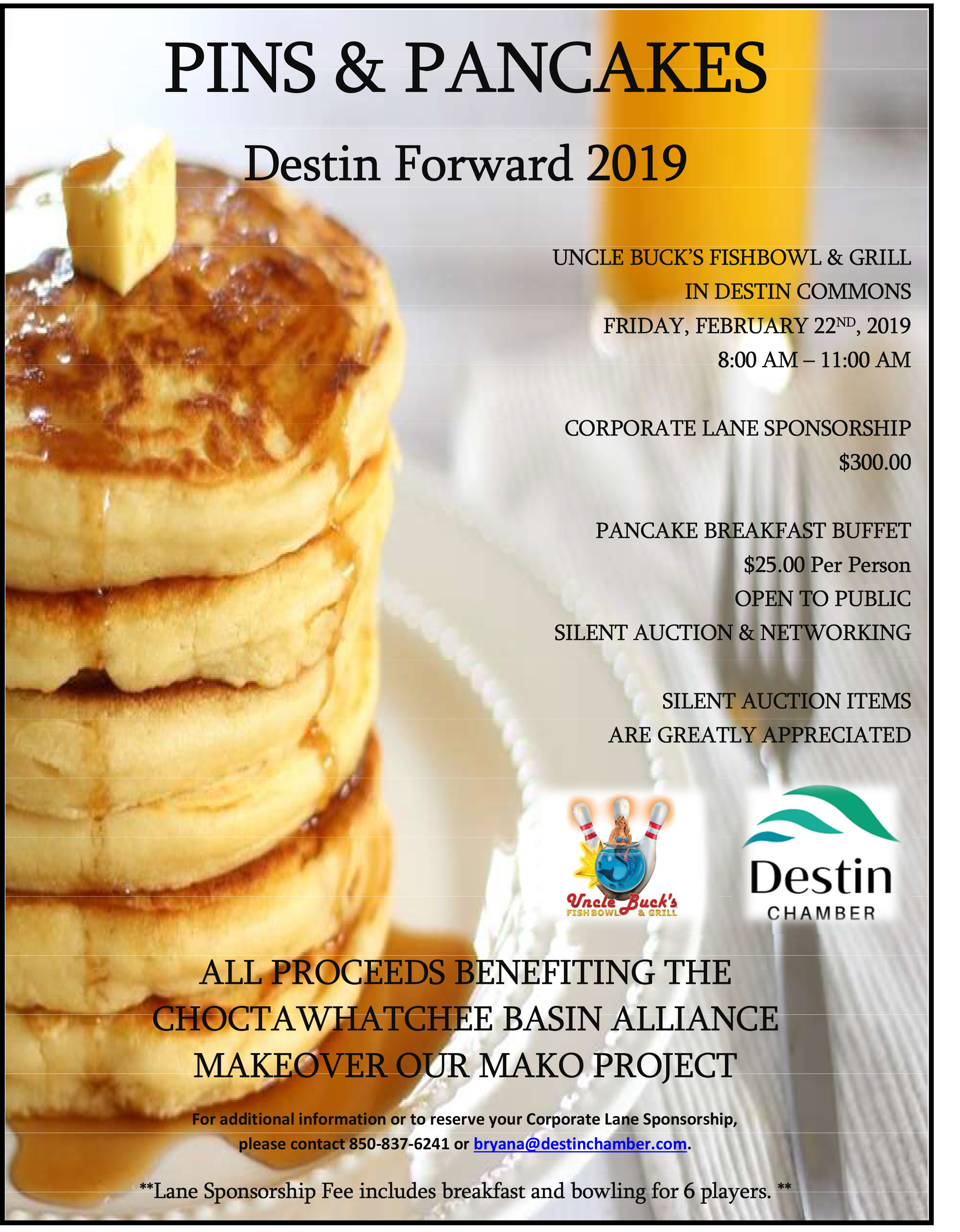 Destin Forward Pins & Pancakes 2019