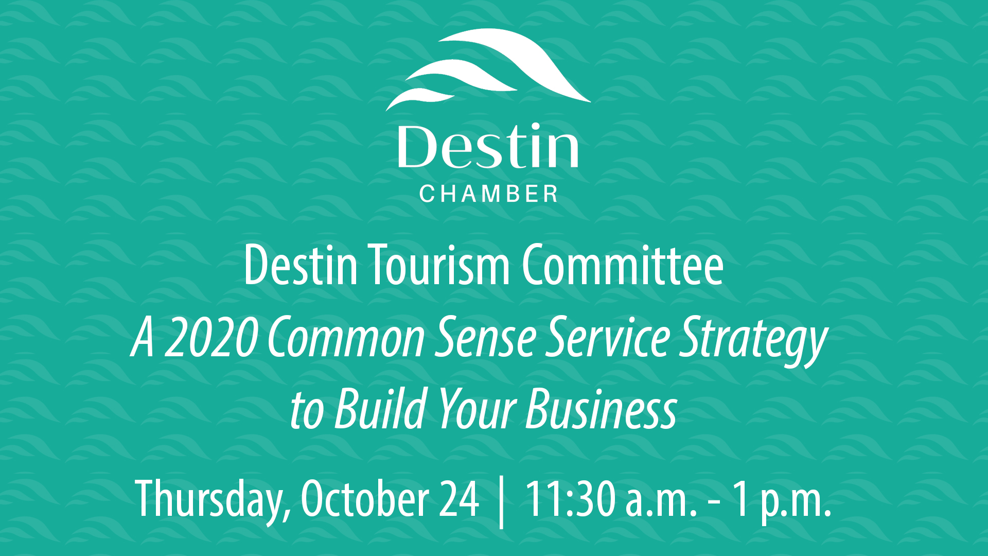Destin Chamber Tourism Committee October 24