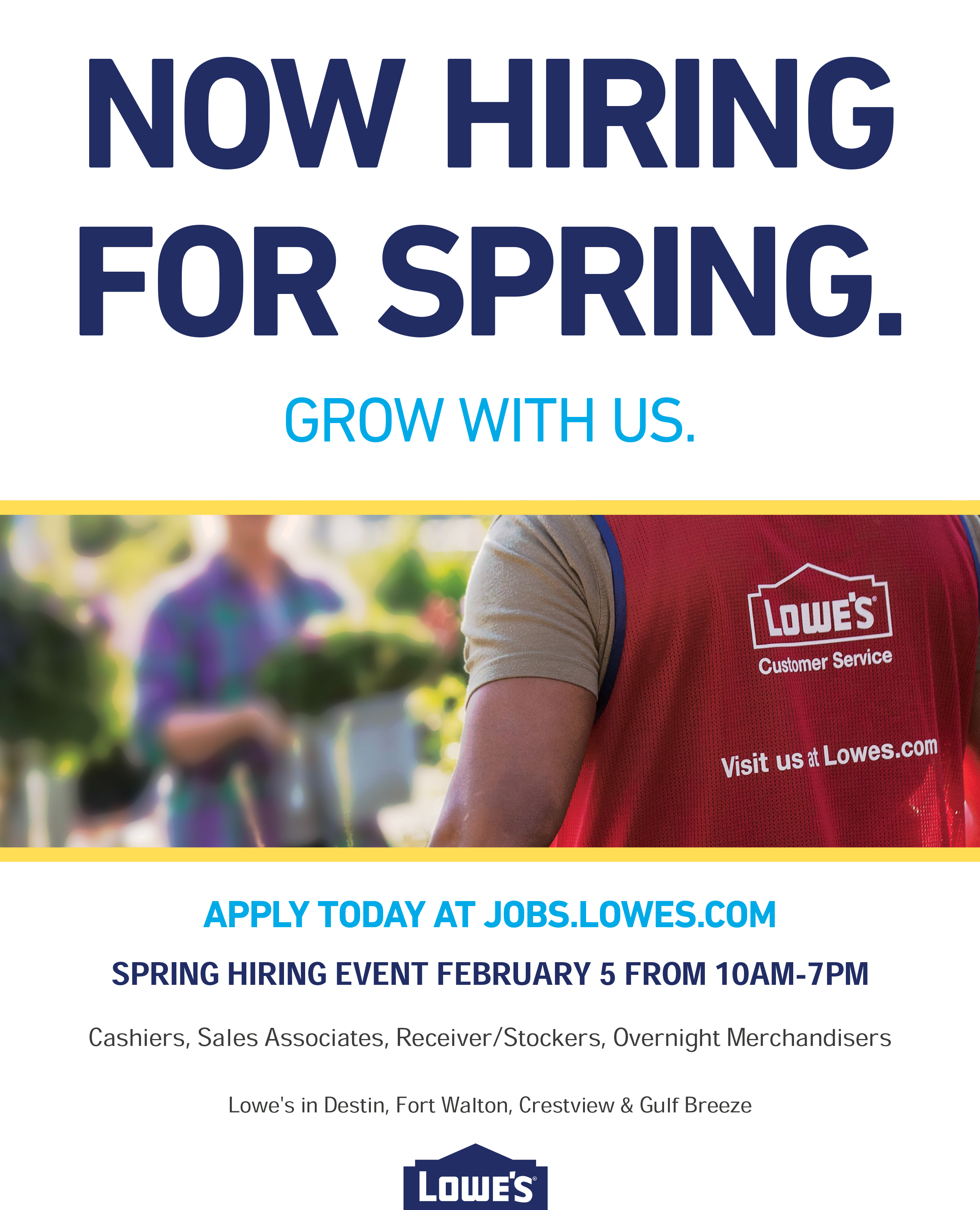 Lowe's Spring Hiring Event