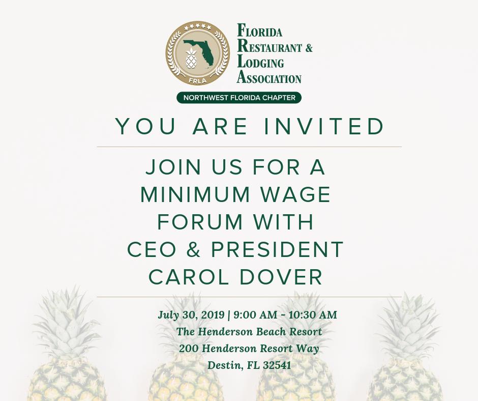 Florida Restaurant & Lodging Association Minimum Wage Forum