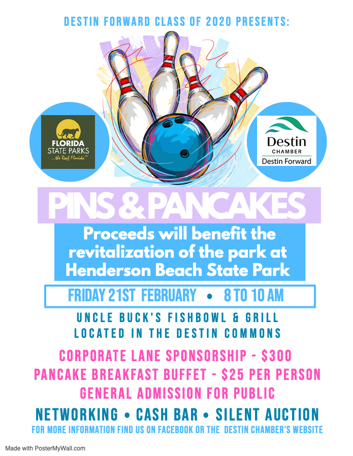 Destin Forward Pins & Pancakes Fundraiser