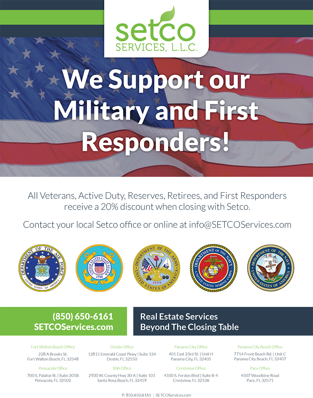 SETCO Offers Military Discounts