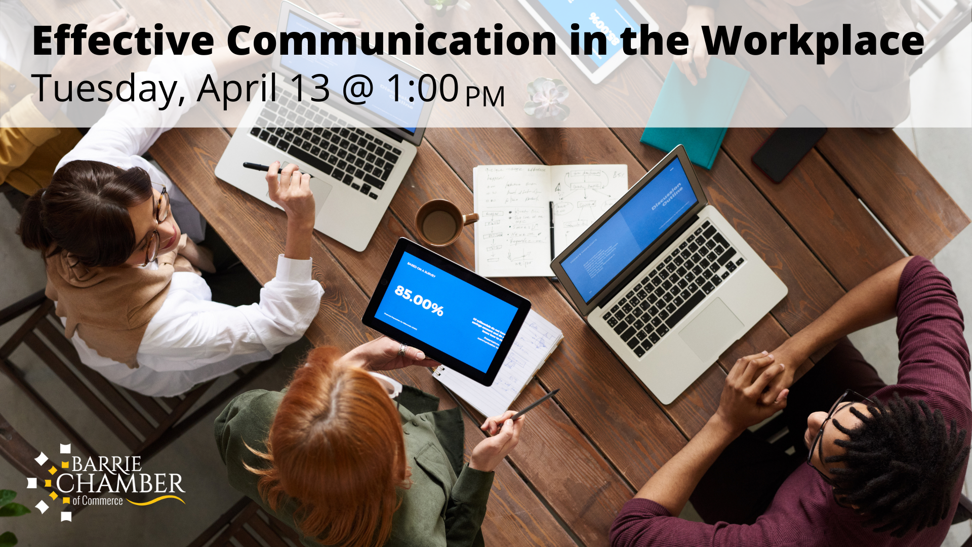 Effective Communication in the Workplace - April 13 @ 1 PM