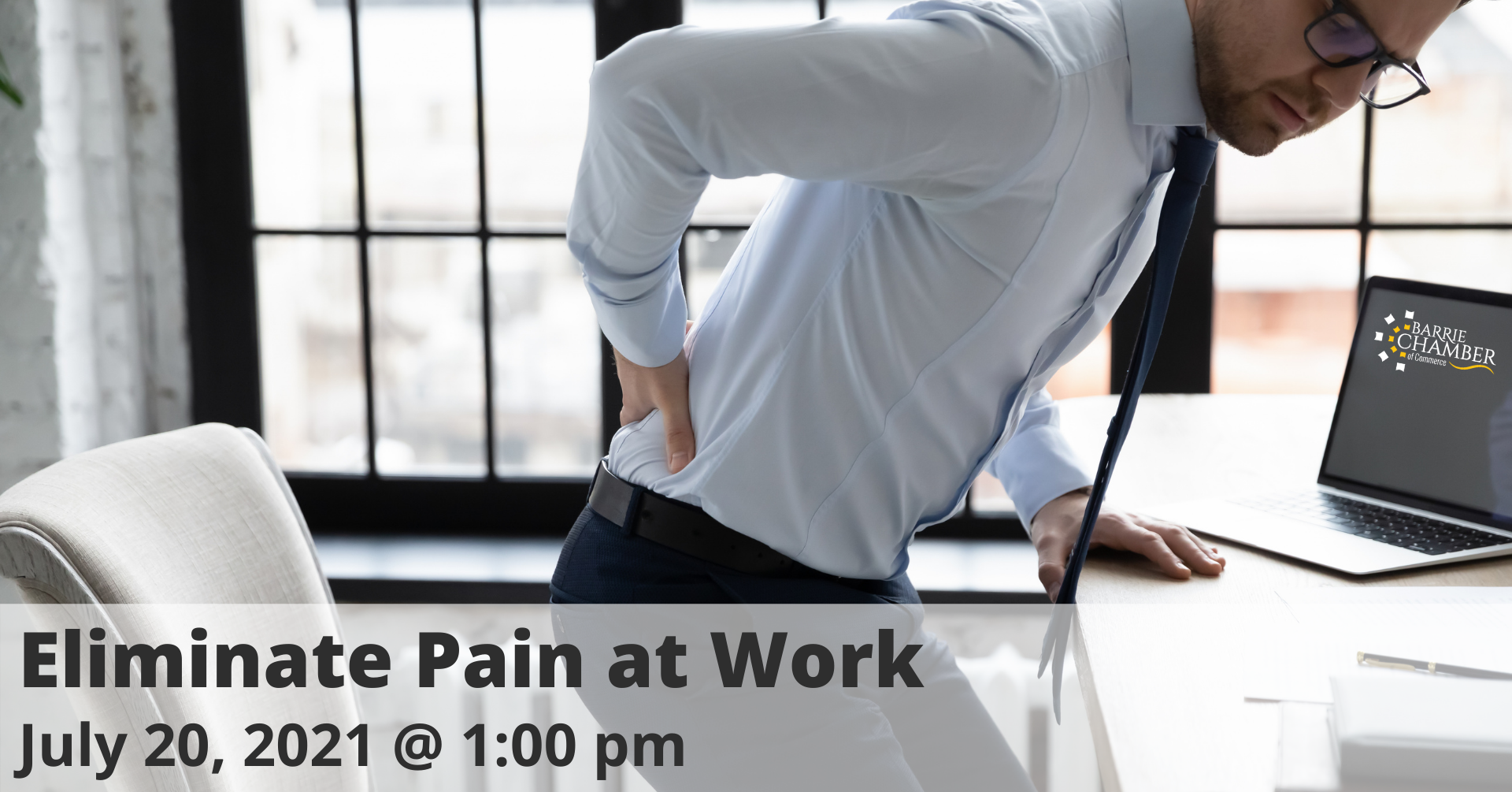 Eliminate Pain at Work, July 20 @ 1:00 pm
