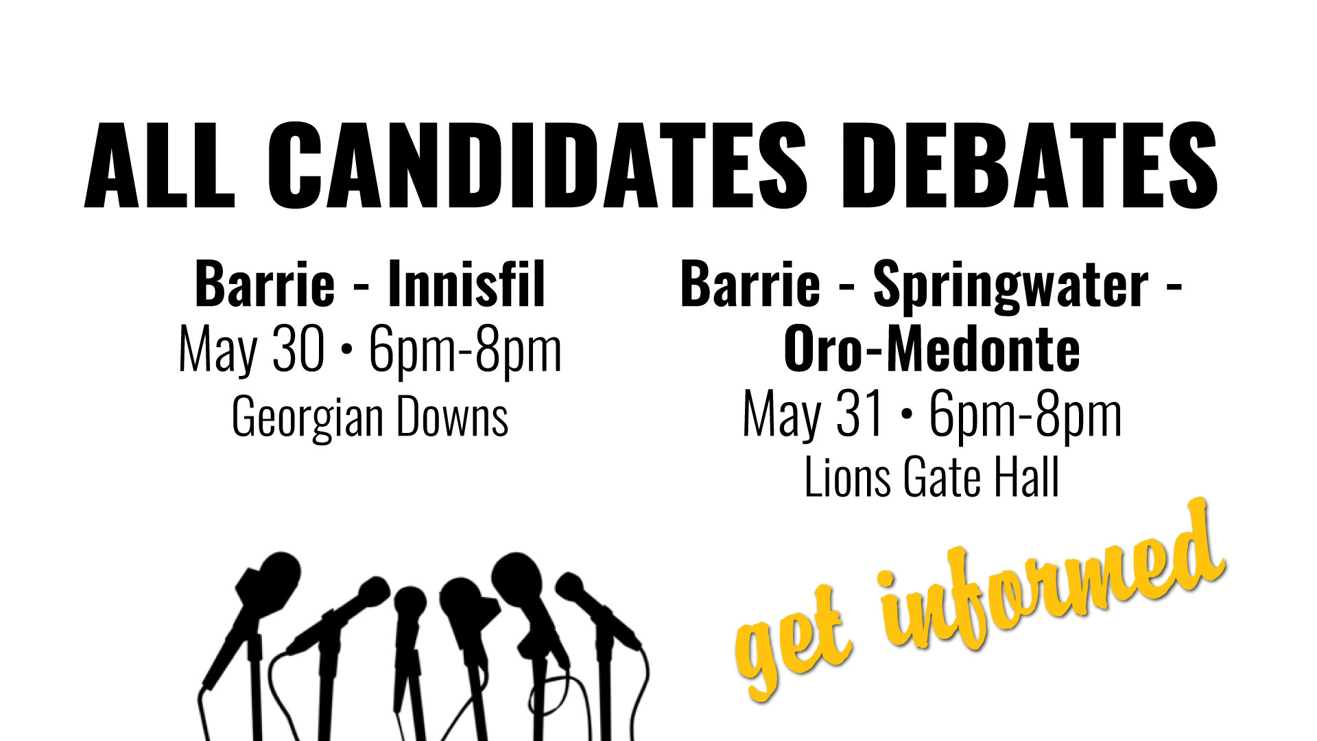 All Candidates Debates - May 30 & 31