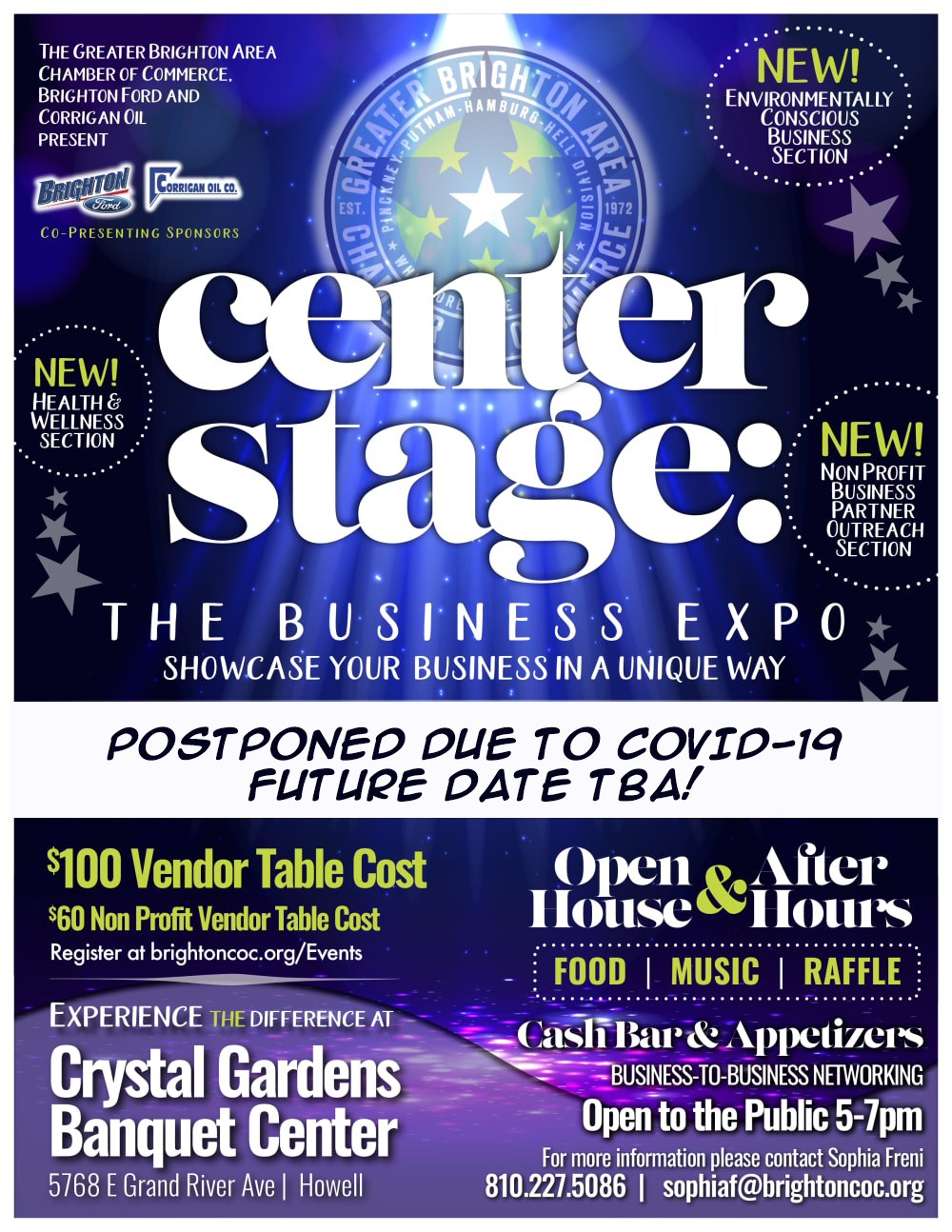 Center Stage Business Expo 2020 Date TBA