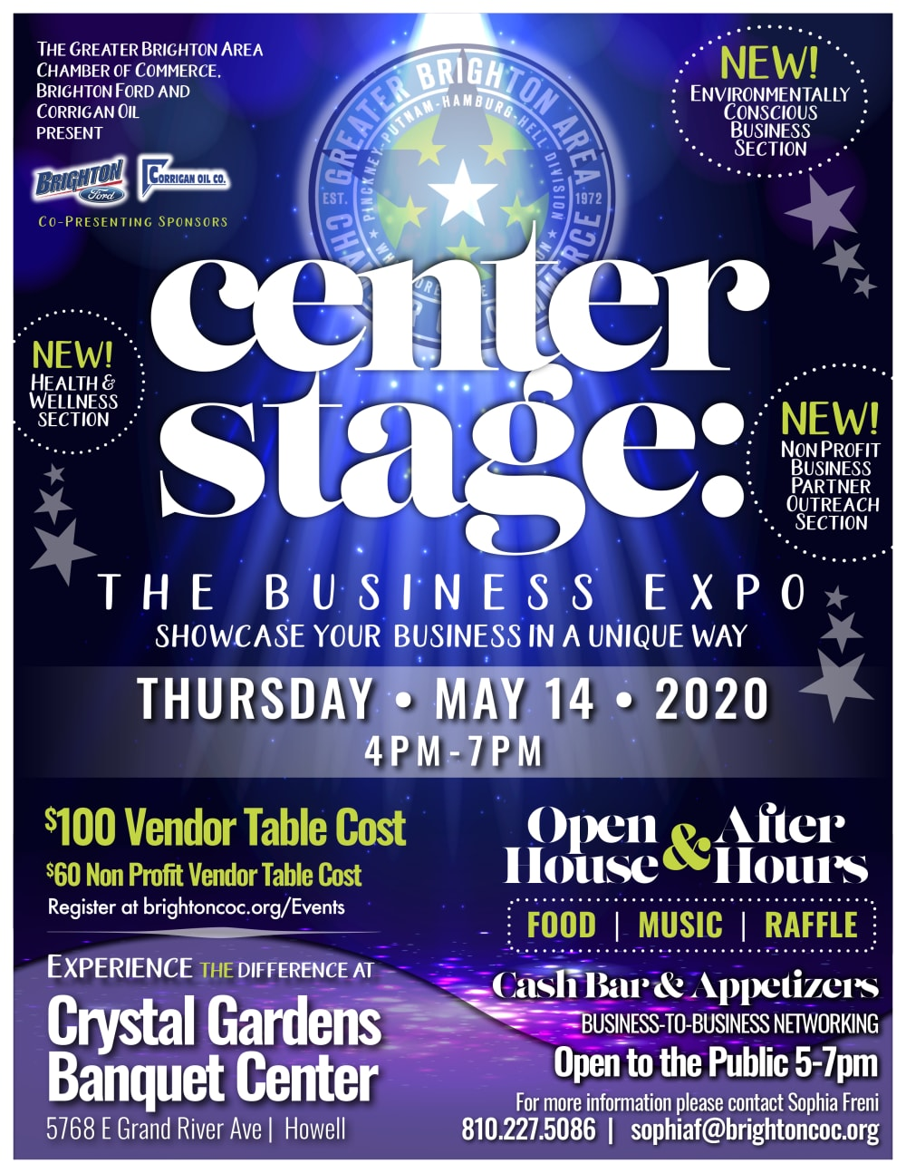 Center Stage Business Exp0 2020