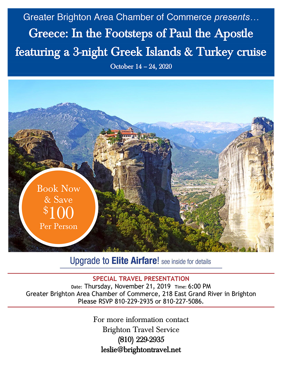 Travel with the Brighton Chamber to Greece in 2020