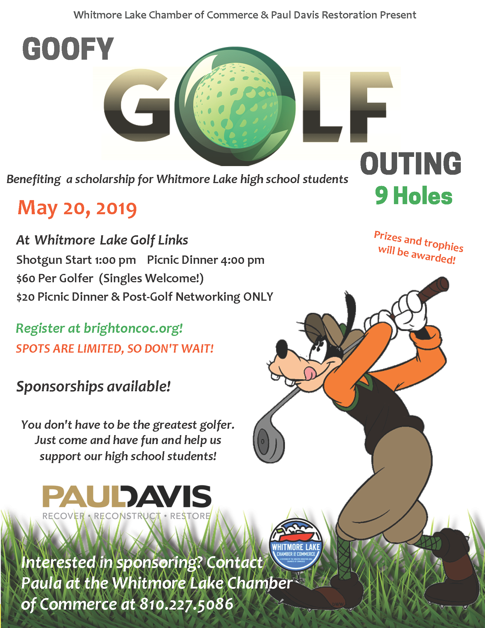 Whitmore Lake Goofy Golf Outing