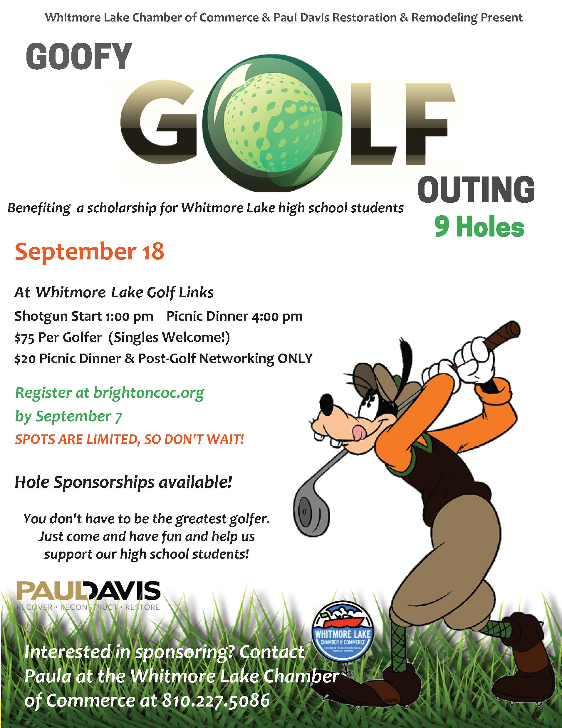 Goofy Golf Flyer