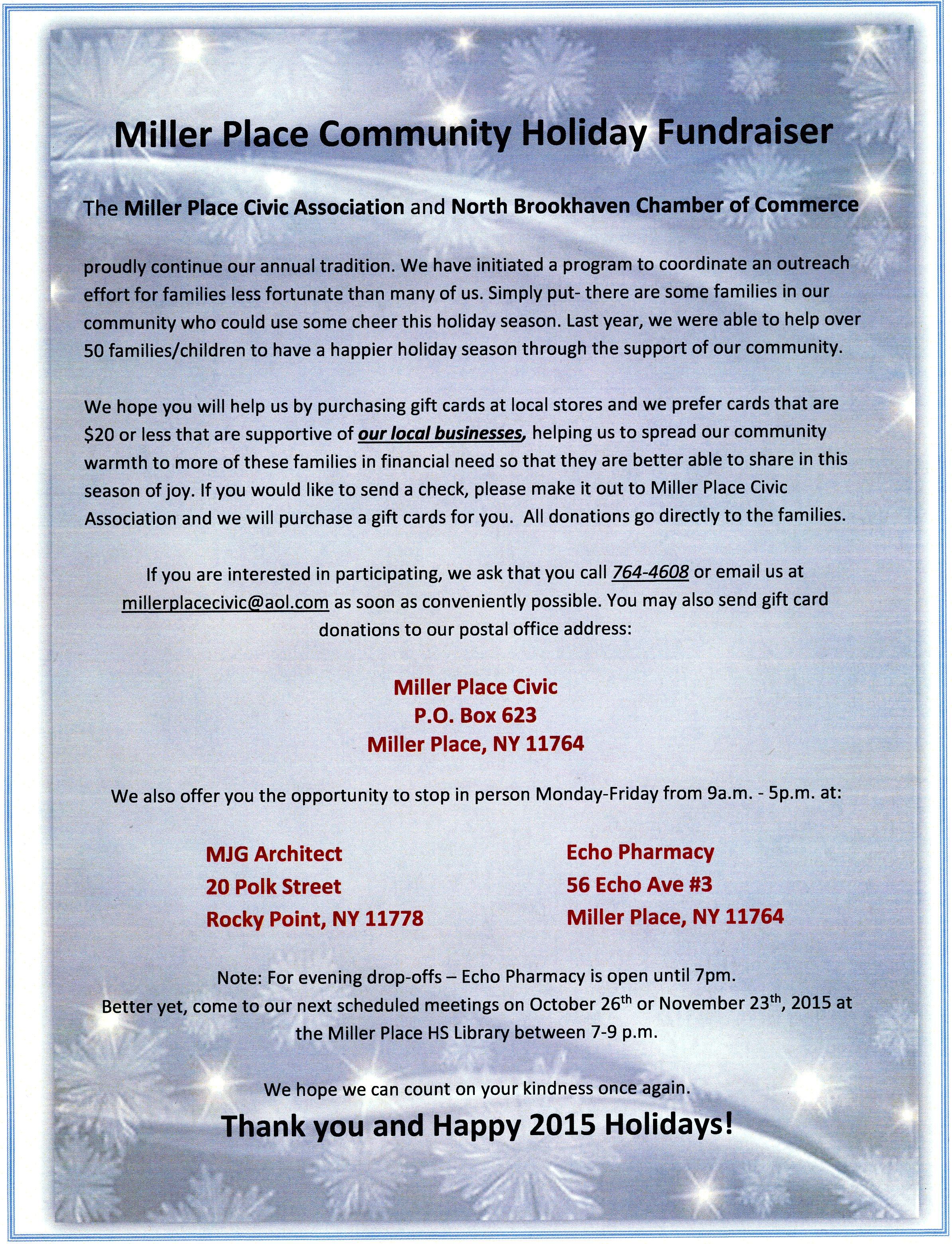 Miller Place Community Fundraiser