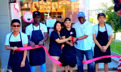 Lucky Roll Ice Cream Ribbon Cutting