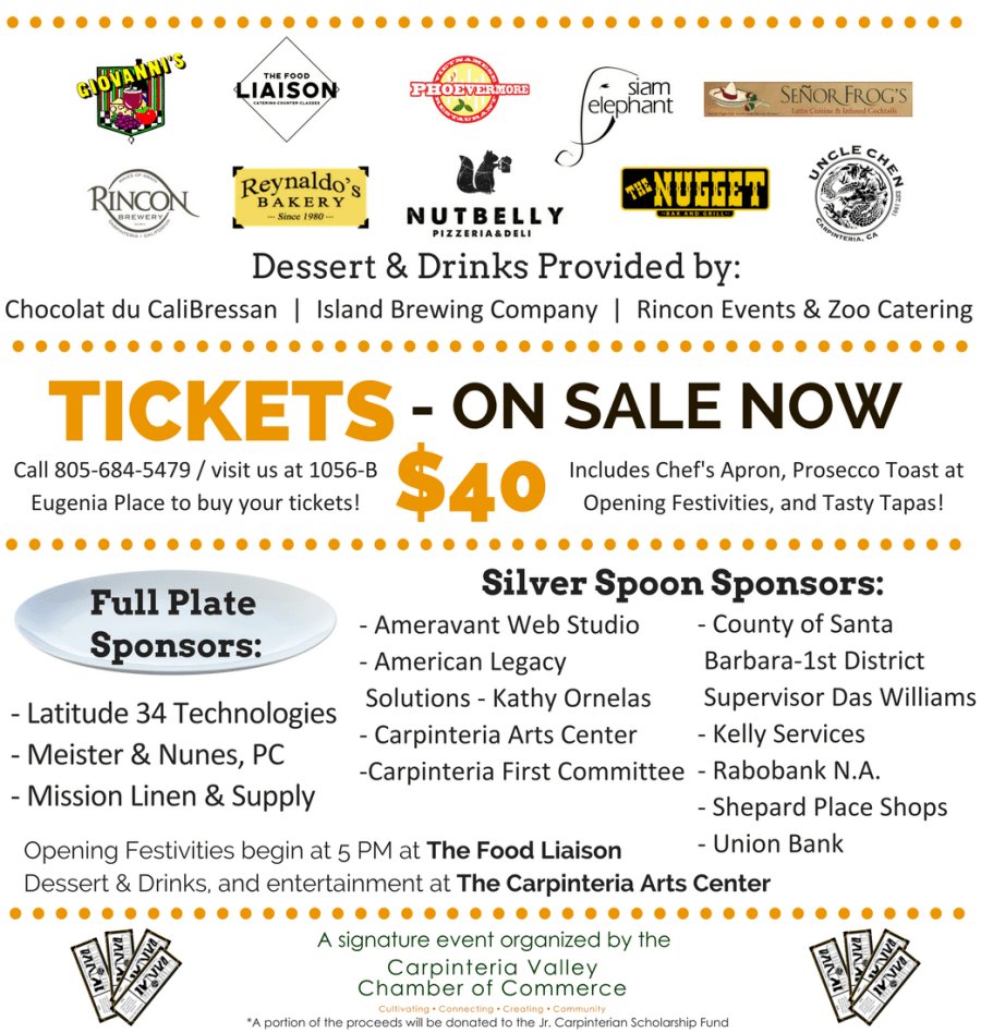 Culinary Crawl Sponsors