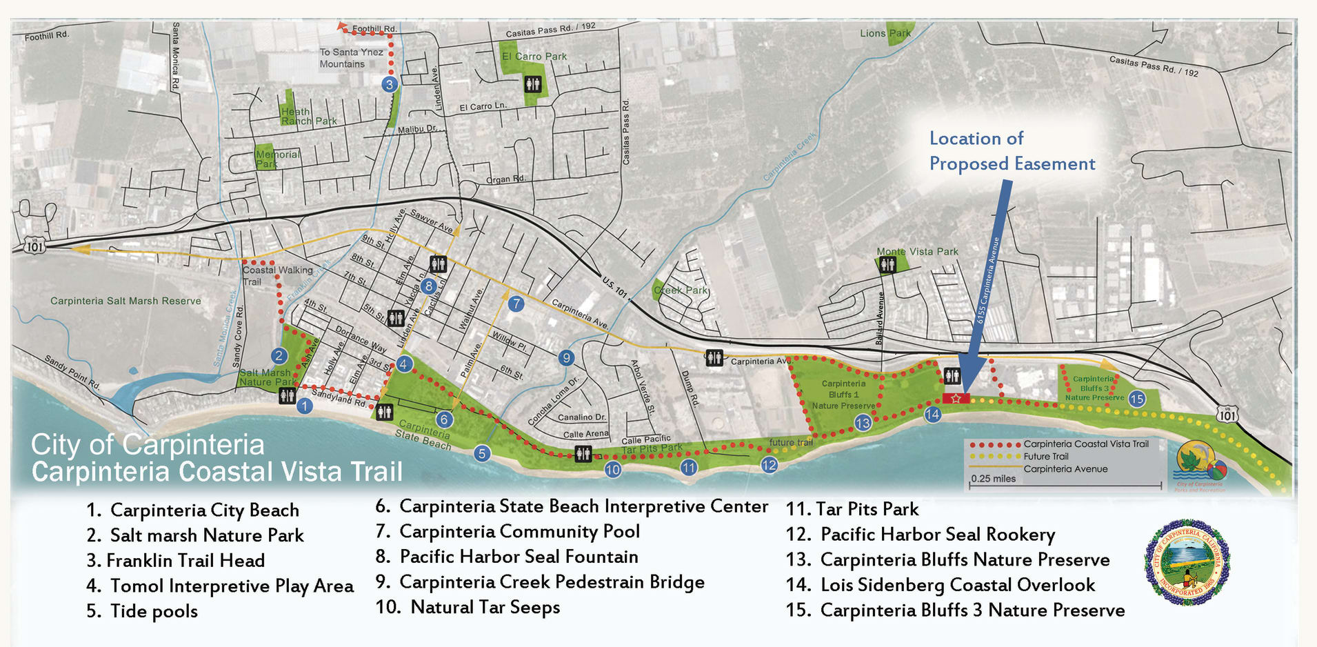 Carpinteria Trail Map