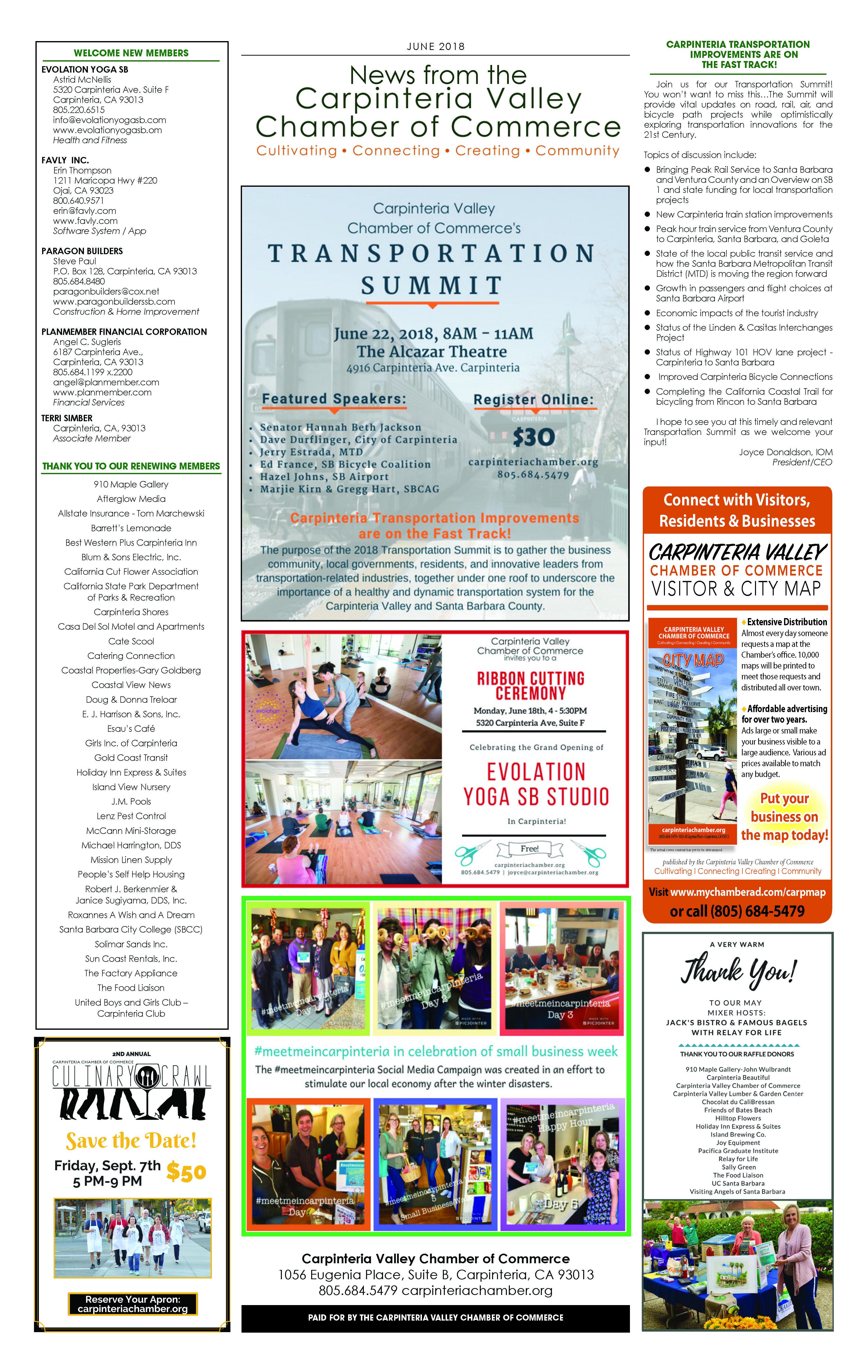 June 7 2018 Newsletter Chamber