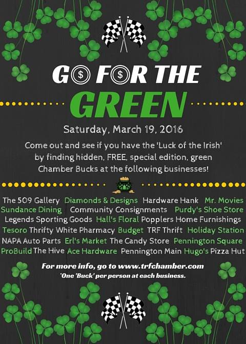 Good Go For The Green   Saturday, March 19