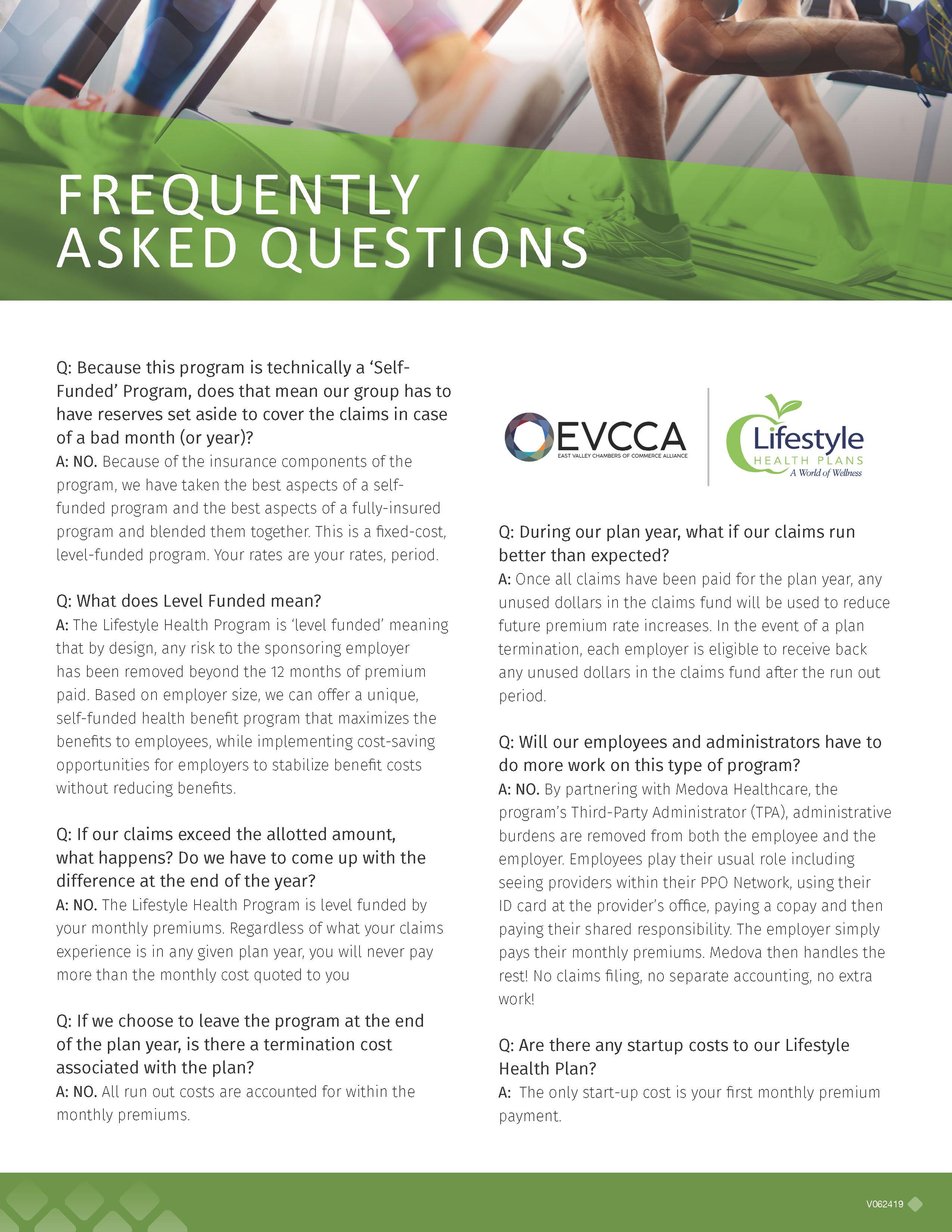 EVCCA Healthcare FAQ
