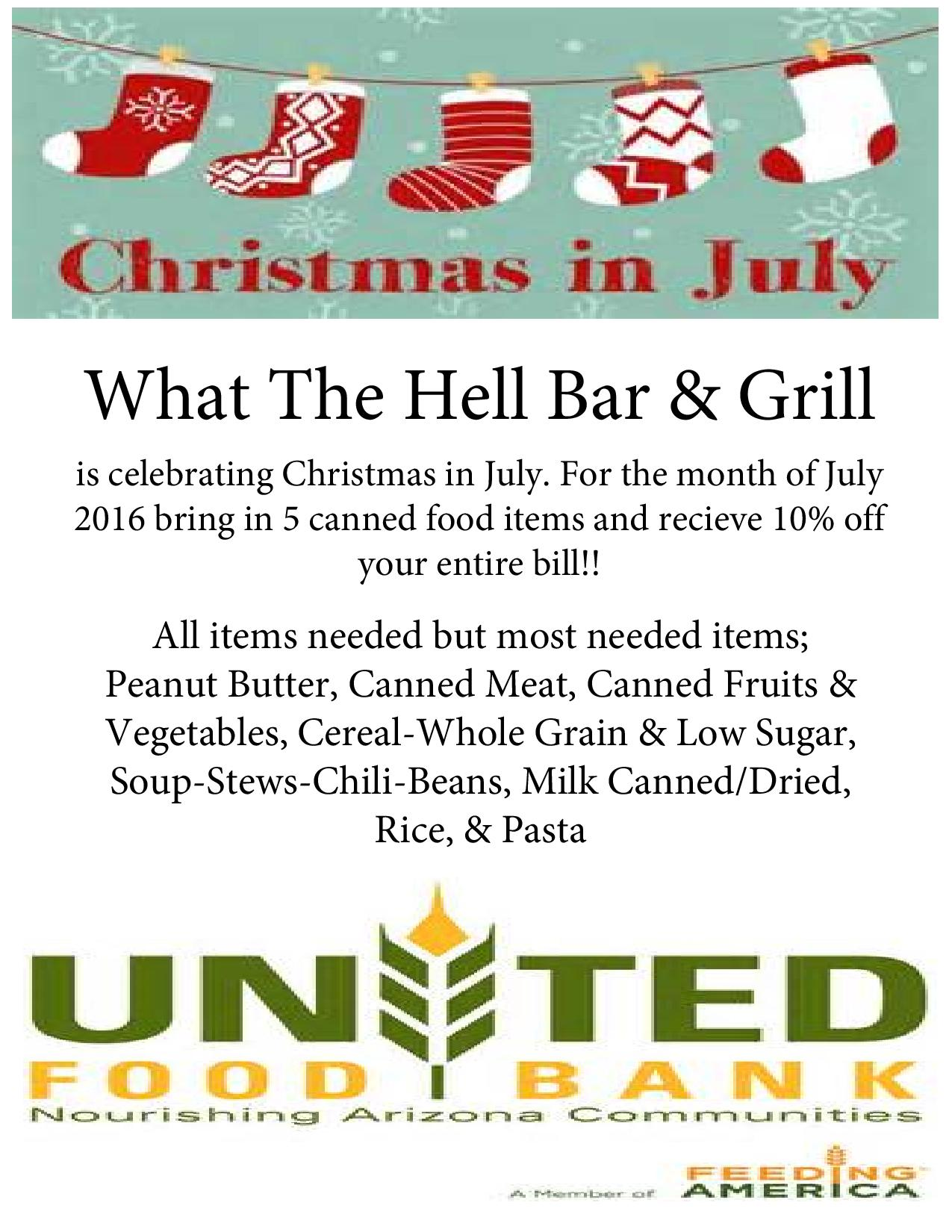 United Food Bank Christmas In July