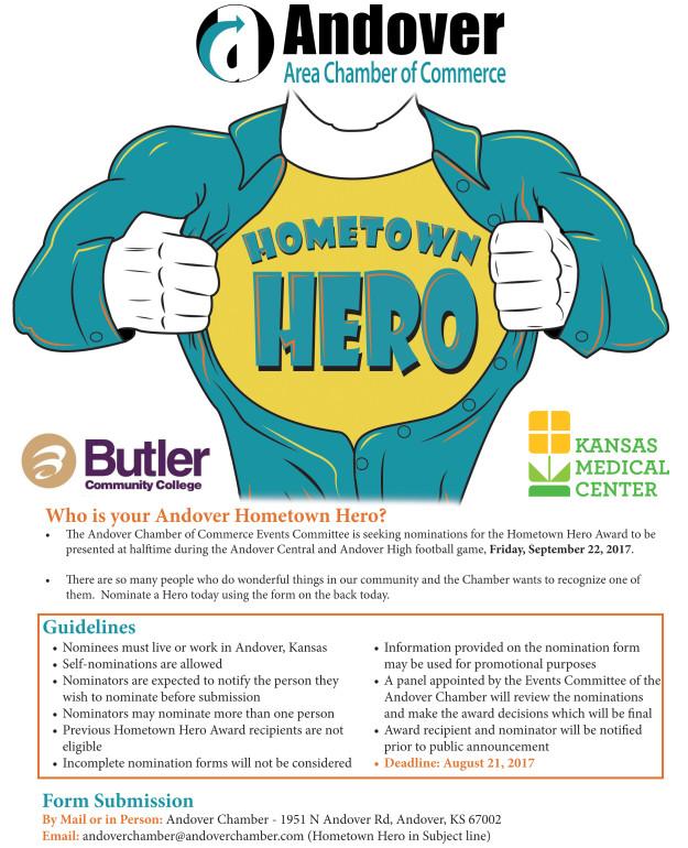 2017 Hometown Heroes flyer