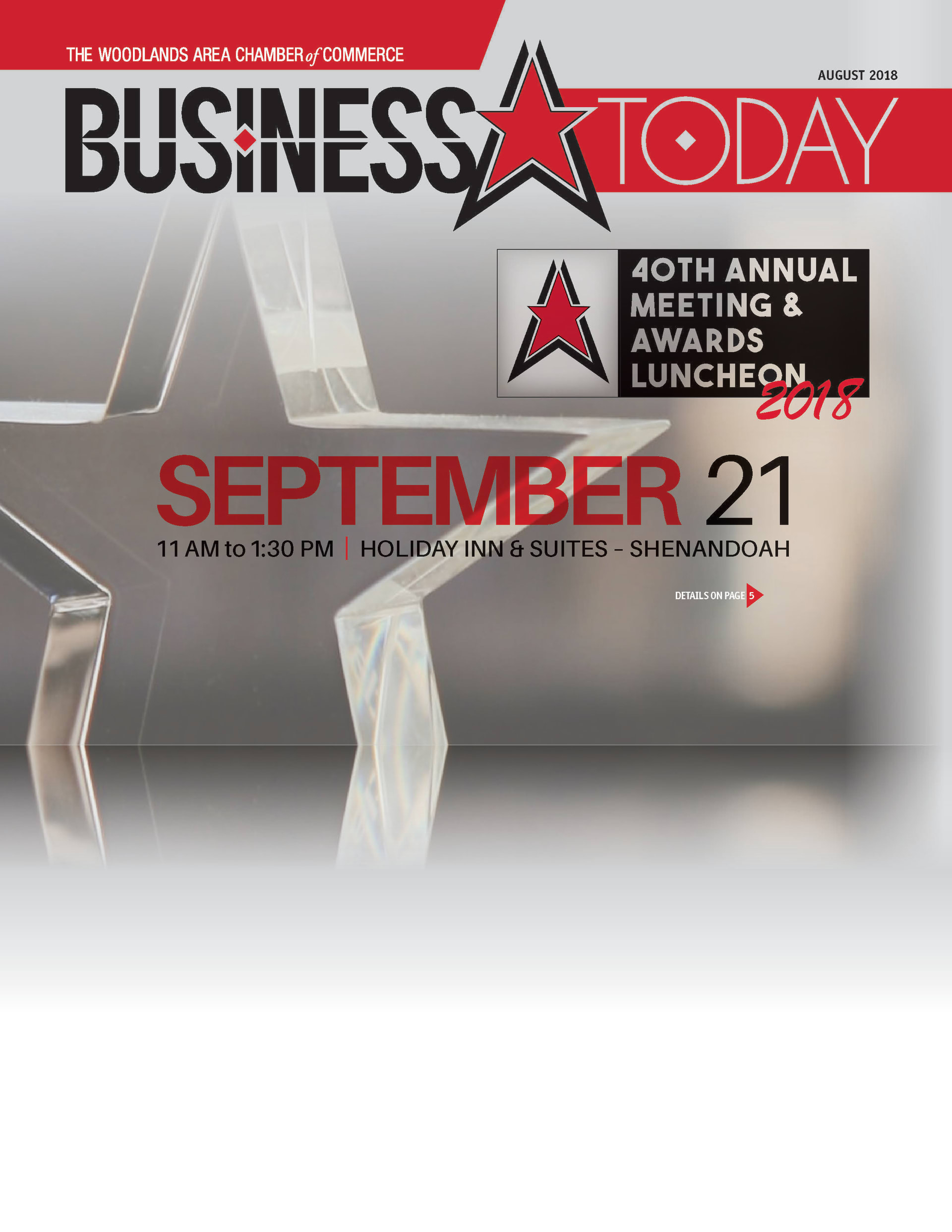 The Woodlands Area Chamber of Commerce's Business Today August 2018