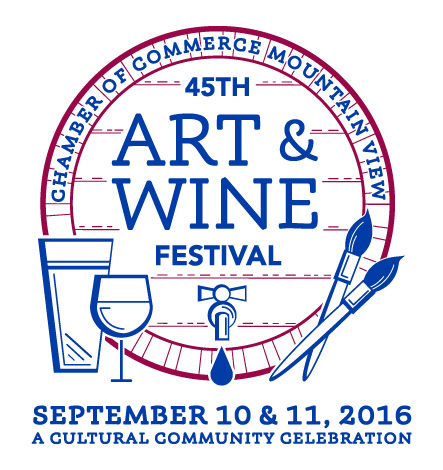 45th Annual Mountain View Art and Wine Festival logo
