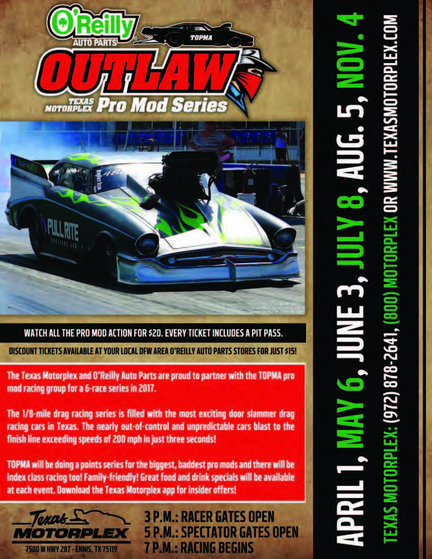 O Reilly Auto Parts TOMPA PRO MOD Texas Motorplex Jul