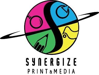 synergize print media logo