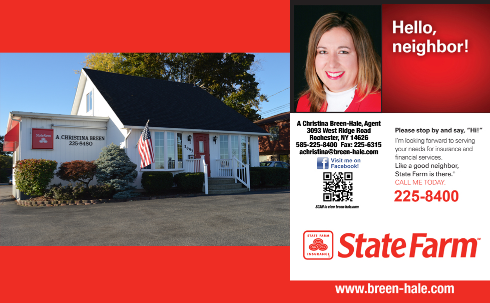 A. Christina Breen-Hale State Farm Insurance Agency Rochester, NY