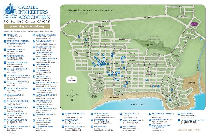 Carmel Innkeepers Association Map
