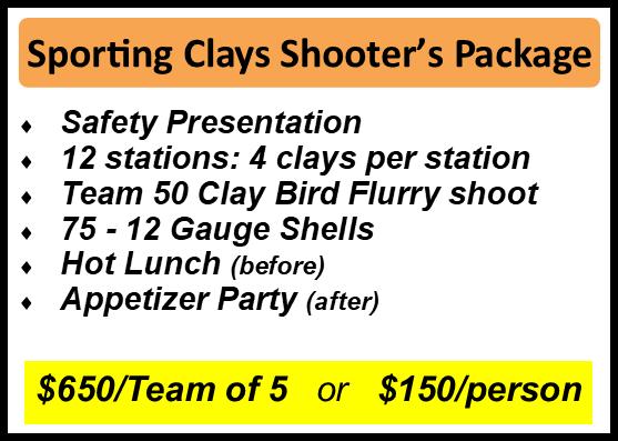 Sporting Clay Shoot: September 27, 2019 - Sep 27, 2019