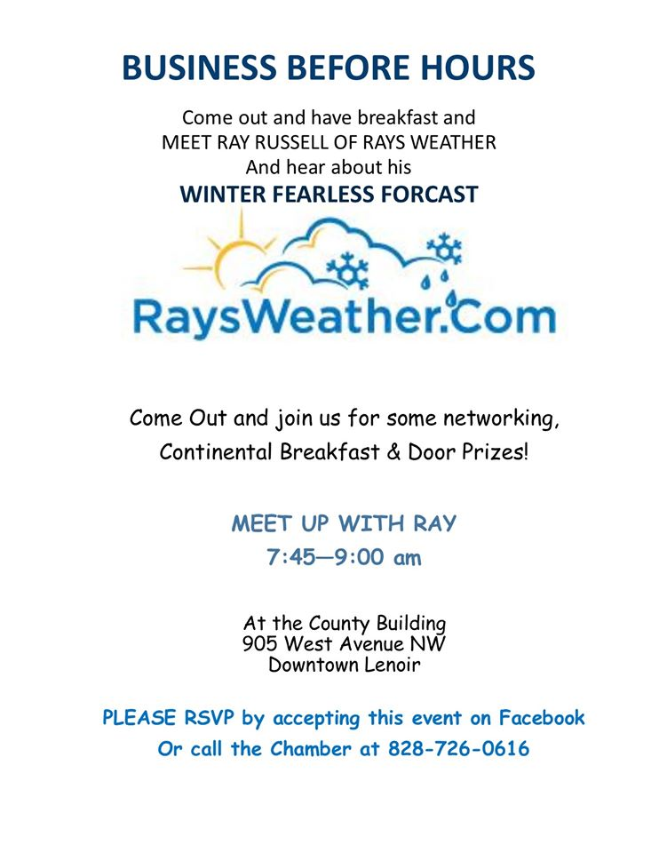 Business Before Hours with Rays Weather