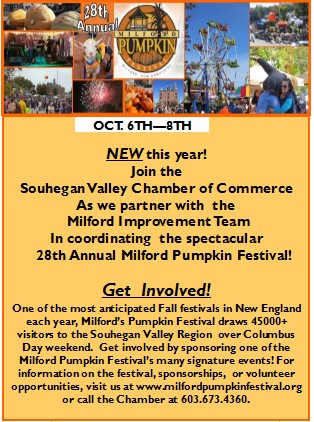 New! SVCC will be coordinating 28th Annual Milford Pumpkin Festival with the Milford Improvement Team!GET INVOLVED!