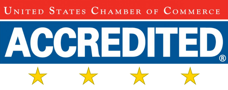 Four-star Accredited by the US Chamber of Commerce