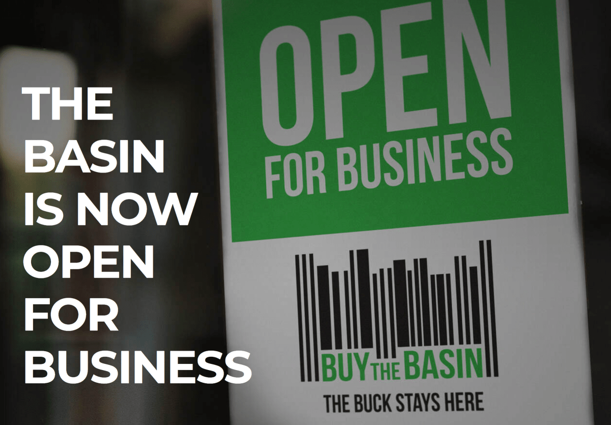 Buy the Basin: The Basin is Now Open for Business