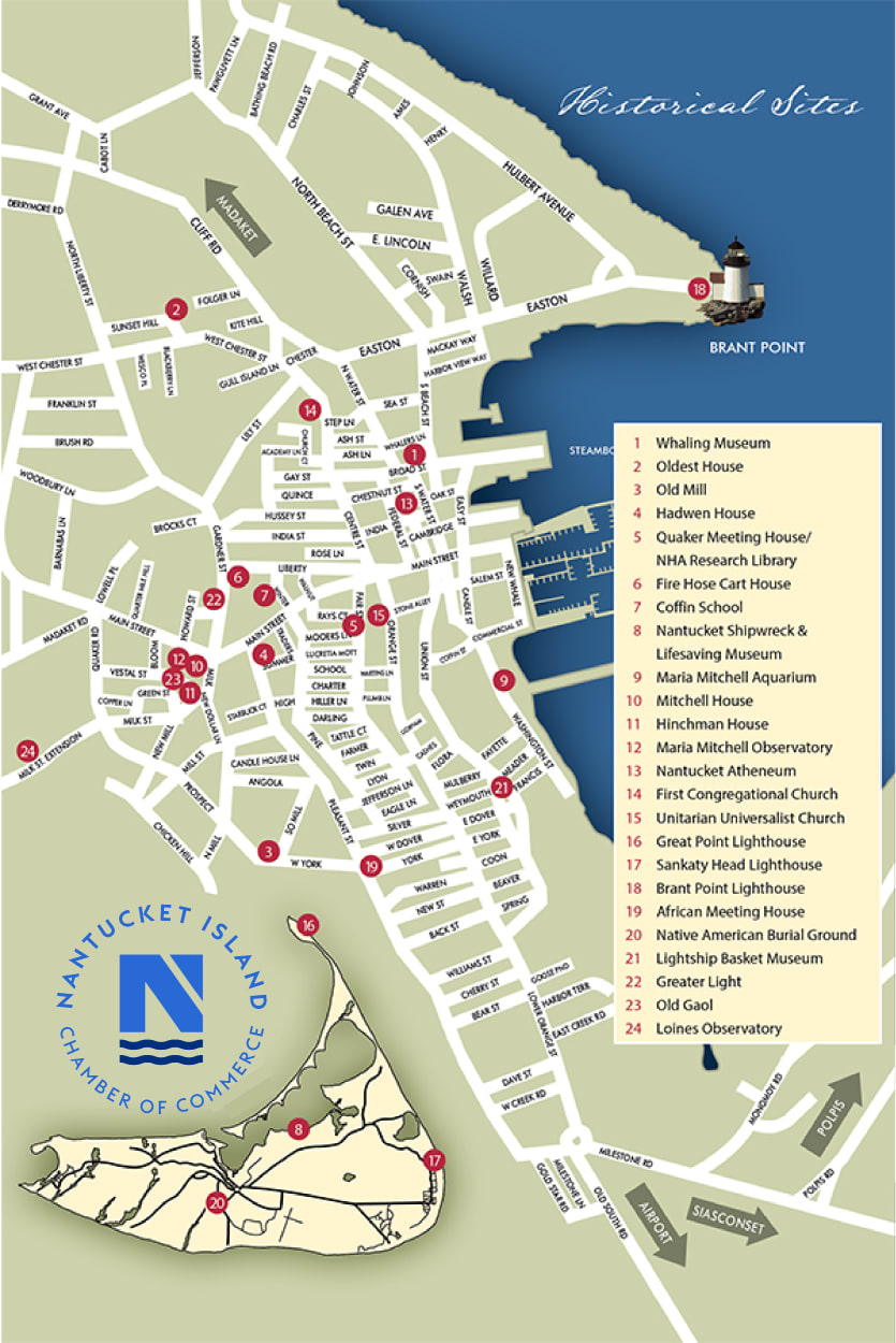 Nantucket Chamber Island Map