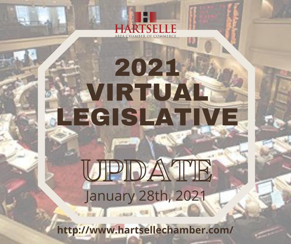 Hartselle Area Chamber 2021 Virtual Legislative Update