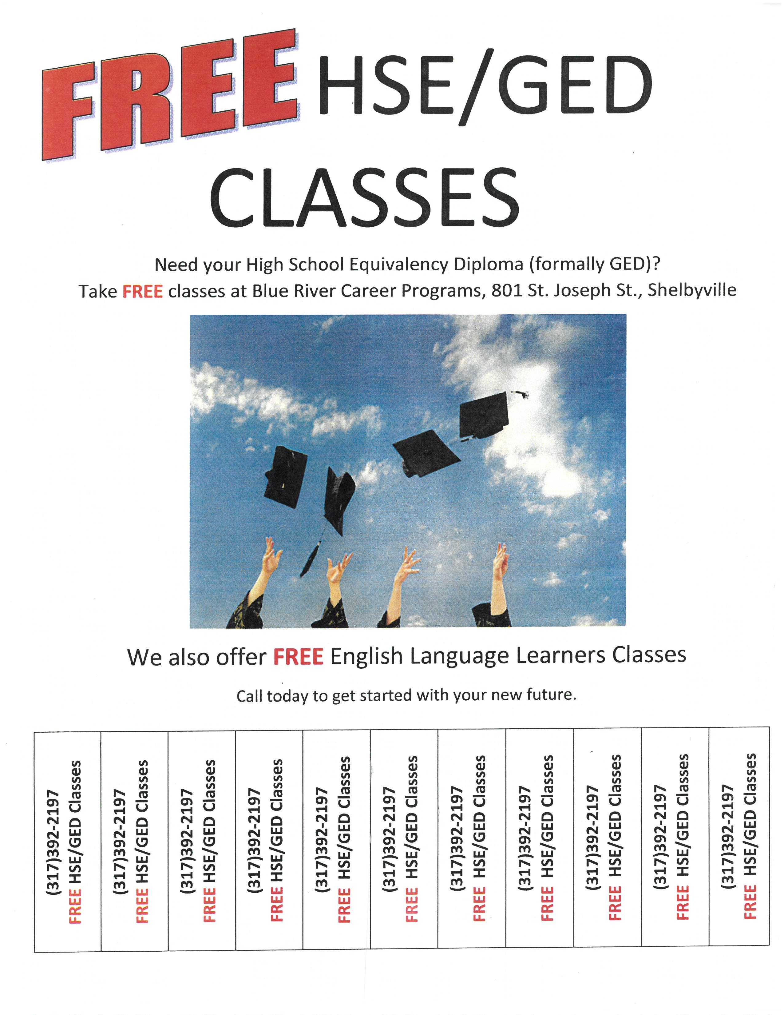 Blue River Career Programs Free Hse Ged Classes Shelby County