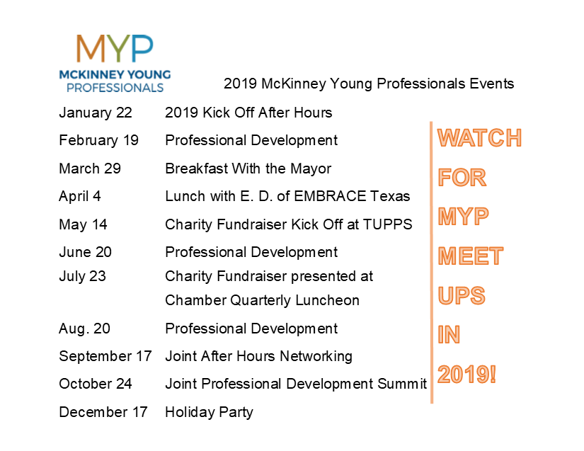 McKinney Young Professionals - McKinney Chamber of Commerce, TX