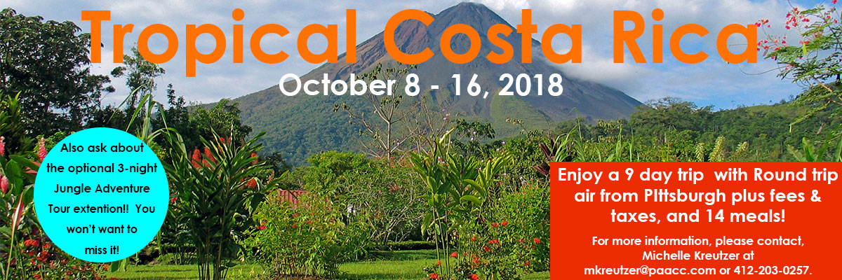 Click here to view the tour guide for our 2018 trip to Costa Rica!