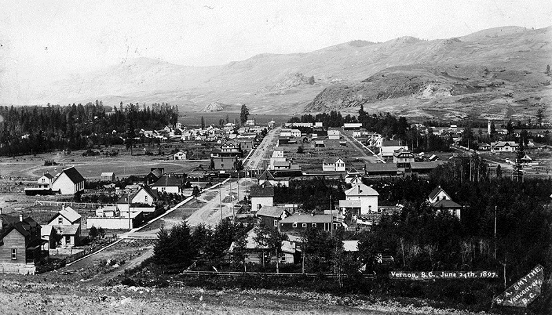 Vernon in 1897. Image Courtesy: Greater Vernon Museum - Photo No. 2053CC
