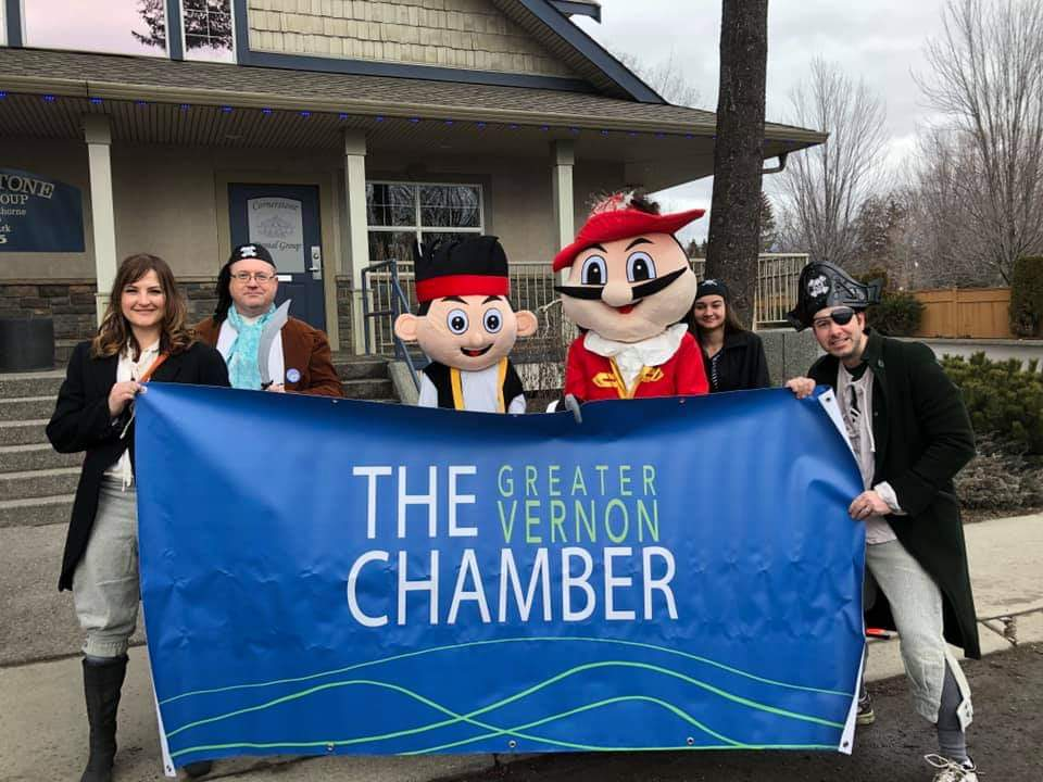 The Greater Vernon Chamber participates in the Vernon Winter Carnival parade in February 2019.