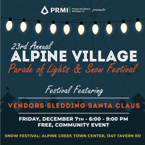 23rd Annual Alpine Village Parade of Lights & Snow Festival