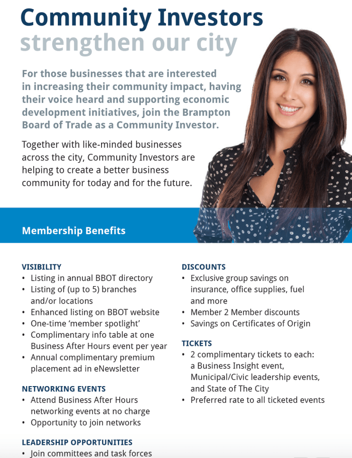 Community Investors Brampton Board of Trade