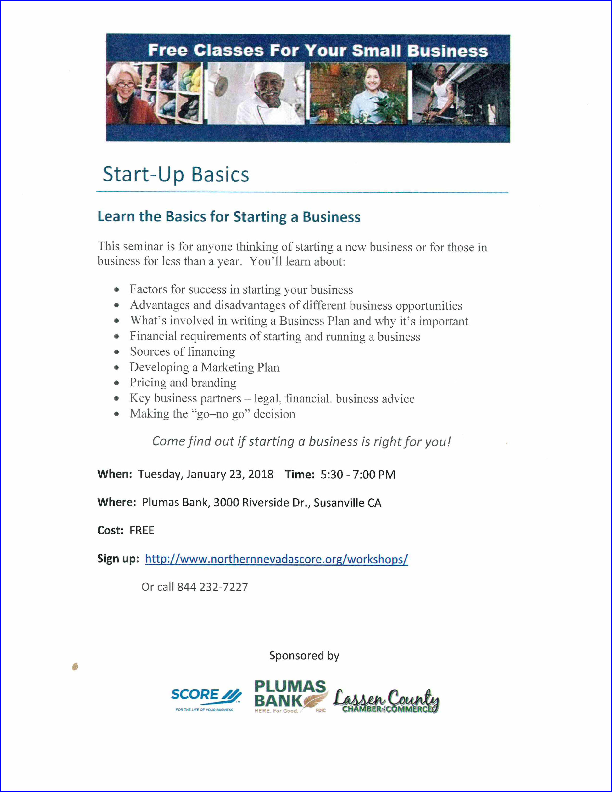 Free Classes for Your Small Business