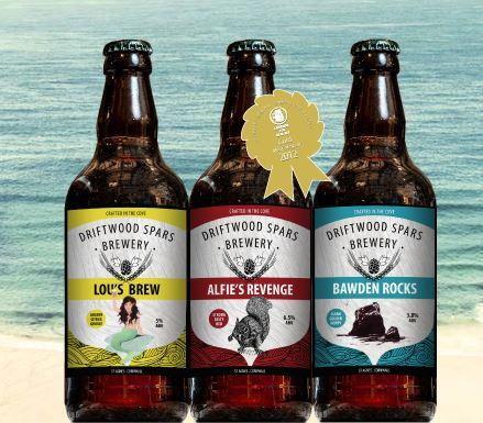 Driftwood spars own brewed beer