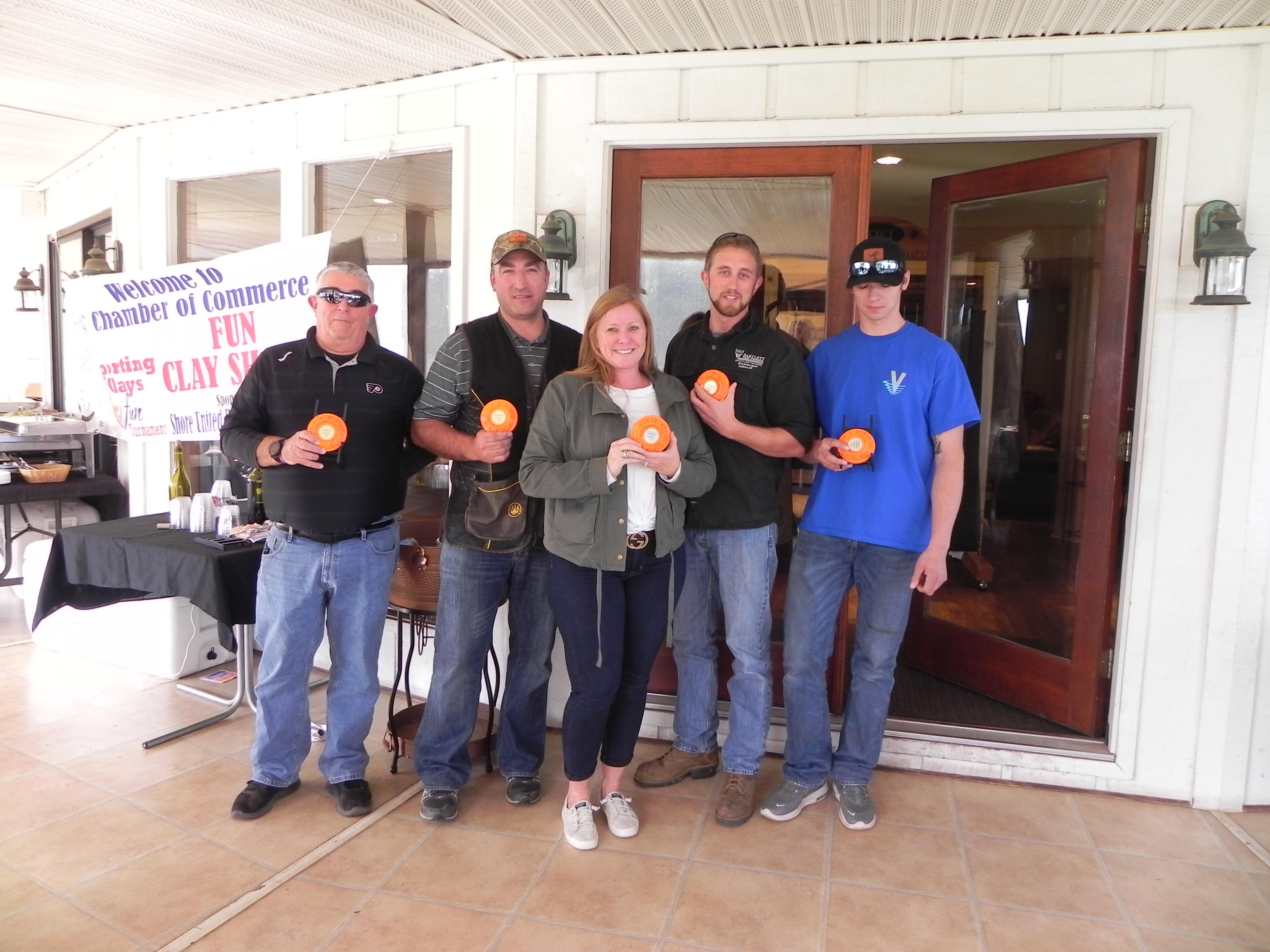 Winners of the 1st QAC Chamber Fun Clay Shoot