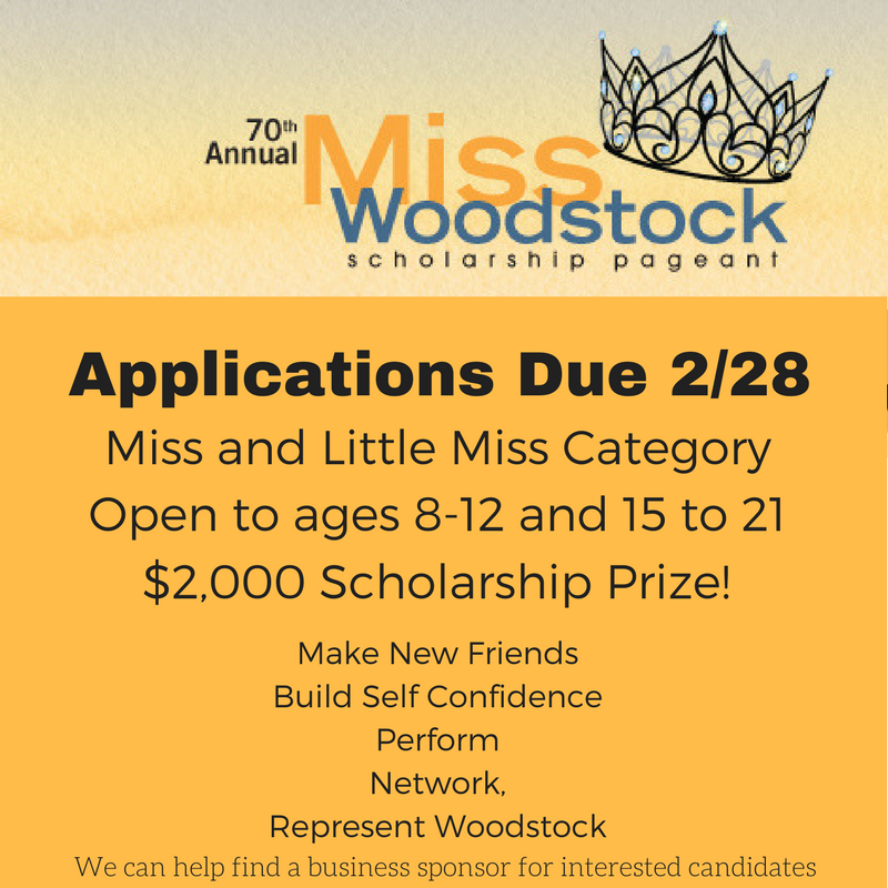 Miss Woodstock Applications Due 2/28